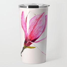 magnolia watercolor painting Travel Mug