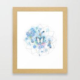 Dreamcatcher No. 1 - Butterfly Illustration Framed Art Print