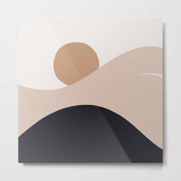 Abstraction_SUN_BODY_LANDSCAPE_Minimalism_002 Metal Print