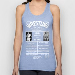 #6-B Memphis Wrestling Window Card Unisex Tank Top