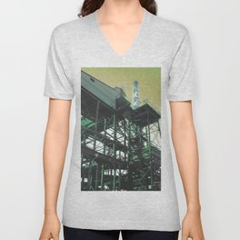 INDUSTRIAL JUNGLE - YELLOW Unisex V-Neck