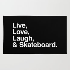 Live Love Laugh and Skateboard Rug