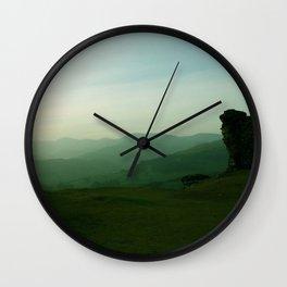 Sunset at Dinas Bran Wall Clock