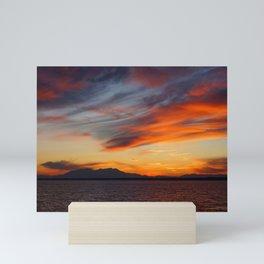marvelous sunset over the sea Mini Art Print