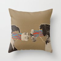 kiss Throw Pillows featuring Kiss by Canson City