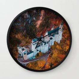 Neuschwanstein Castle in Schwangau, Germany Wall Clock