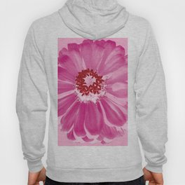 Abstract Photo Large Pink Flower Hoody
