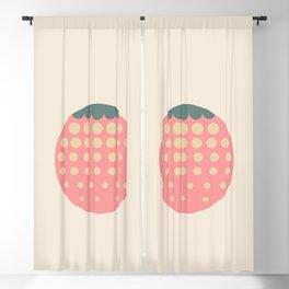 strawberry    retro dusty Blackout Curtain