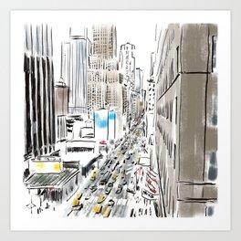 Penn Station / Madison Square Garden / 7thAve Art Print