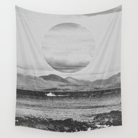 gray Wall Tapestries featuring Gray Waterside by Jane Lacey Smith
