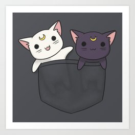 Pocket Kitties Art Print