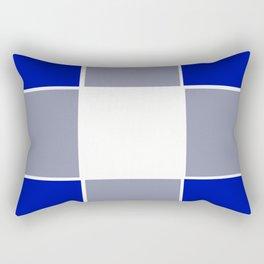 TEAM COLORS 3 ....BLUE ,GRAY Rectangular Pillow