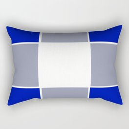 TEAM COLORS 3 ....BLUE ,GRAY Rectangular Pillow