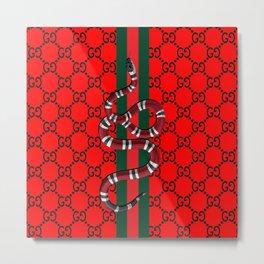 guci snake pattern Metal Print