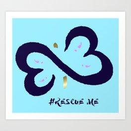 Rescue Me Minimal Art Print