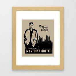 Richard Castle, Mystery Writer Framed Art Print