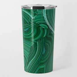 Green Malachite Nature Pattern Design Abstract Travel Mug