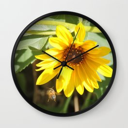 Honeybee En Route to Work Wall Clock