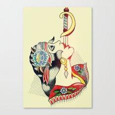 Sword Magic Girl Canvas Print