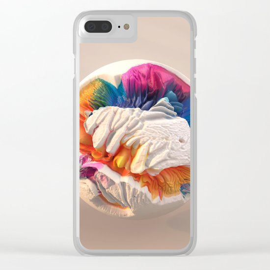 ACRYLIC BALL II // 3D ABSTRACT Clear iPhone Case