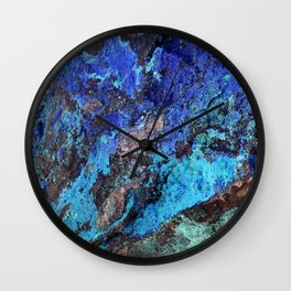 Malachite Mineral Stone rustic decor Wall Clock