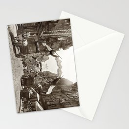 Little Italy Mott Street NYC Photograph (1908) Stationery Cards