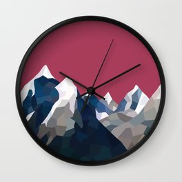 Geo Mountain Range (Part 2) Wall Clock