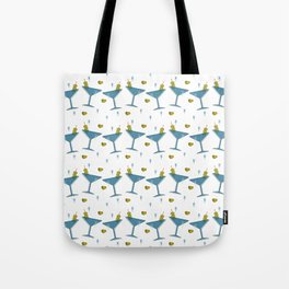 Martini Madness Repeating Pattern Tote Bag