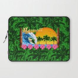 Hawaiian Surfing And Palm Trees Laptop Sleeve
