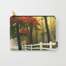 Fall scene with fence Carry-All Pouch