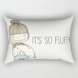 unicorn girl Rectangular Pillow
