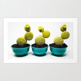 Cactus Macarons Art Print