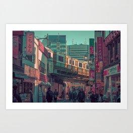 TOKYO TRAIN 03 Art Print