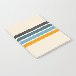 Vintage Retro Stripes Notebook