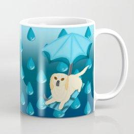 Rain Drop Umbrella Dog Coffee Mug