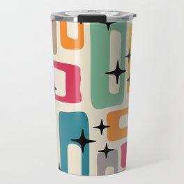 Retro Mid Century Modern Abstract Pattern 242 Travel Mug