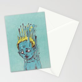 The Blue Boy with Golden Hair Stationery Cards