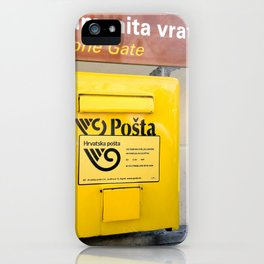 The yellow mailbox iPhone Case