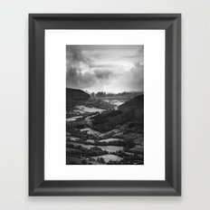 Forests and Storms - Black and White Collection Framed Art Print