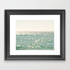 beach. bokeh sparkle, ocean. La Mer Framed Art Print