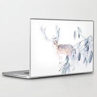 reindeer Laptop & iPad Skins featuring Reindeer by Lisbel