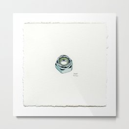 8mm Axle Nut - Drawing #58 Metal Print