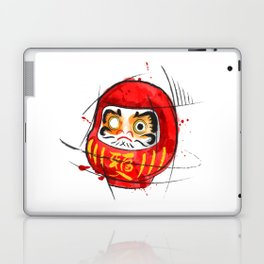 Daruma Digital Drawing, Japanese Art, Watercolor, Daruma Print Laptop & iPad Skin