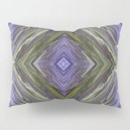 Claret and Moss Waves Pillow Sham