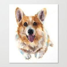 Corgi painting, watercolor Corgi, dog paintings, dog breed mugs, dog breed pillows Canvas Print