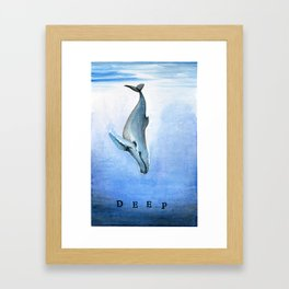 Deep - Whale 21 Framed Art Print