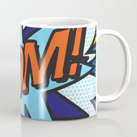 comic book Mugs featuring Comic Book BOOM! by Thisisnotme