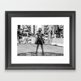 Fearless Girl NYC Framed Art Print