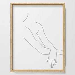 Figure line drawing illustration - Dua Serving Tray