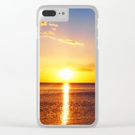 Aegean Spring Sunset Clear iPhone Case
